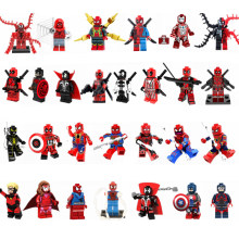 Legoing Deadpool Bouwstenen Speelgoed Super Heroes SpiderMan Thanos Thor Avenger Movie Cijfers Compatibel(China)