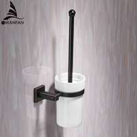 Toilet Brush Holders Modern Style Toilet Brush Cleaner Ceramic Bathroom Accessories WC Brush With A Long Handle For Home 601009
