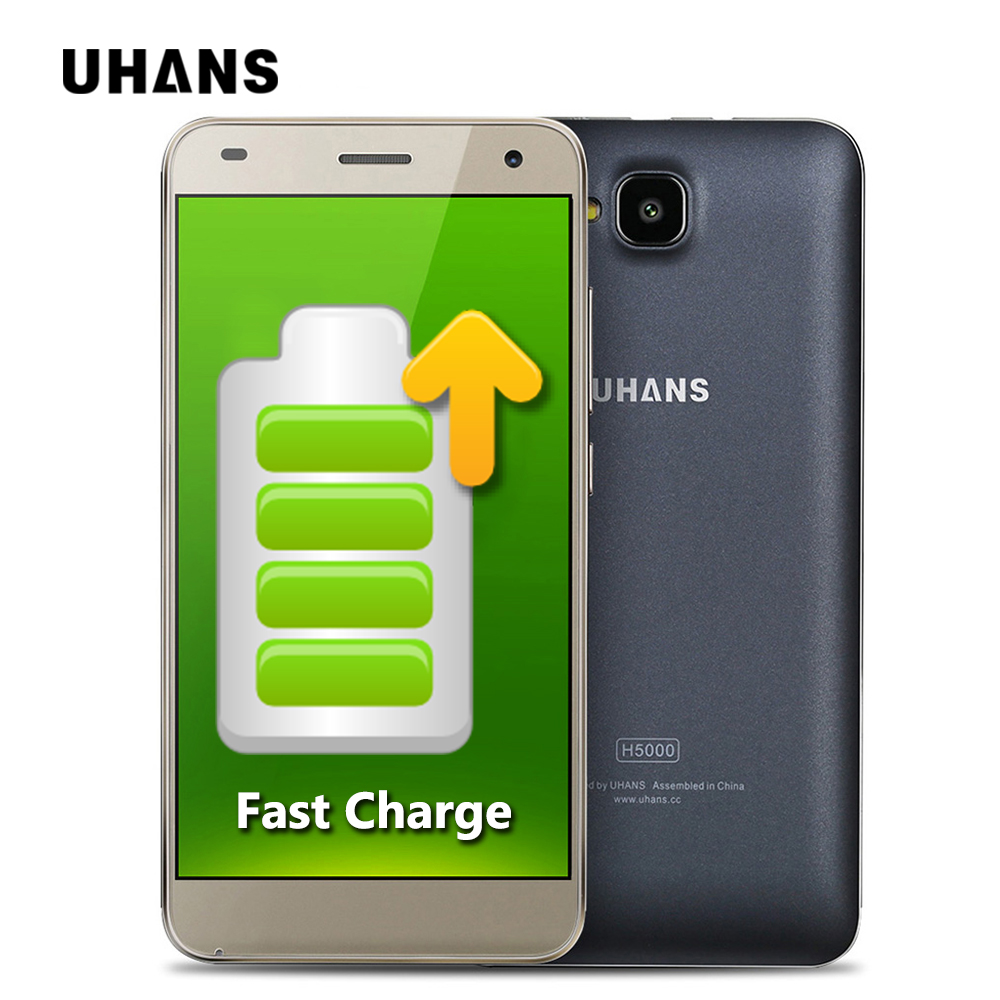 Цена за UHANS H5000 4 Г Мобильный Телефон 5 Дюймов HD 1280x720 IPS MTK6737 Quad ядро Android 6.0 3 ГБ RAM 32 ГБ ROM 13MP CAM 4500 мАч Быстрая Зарядка