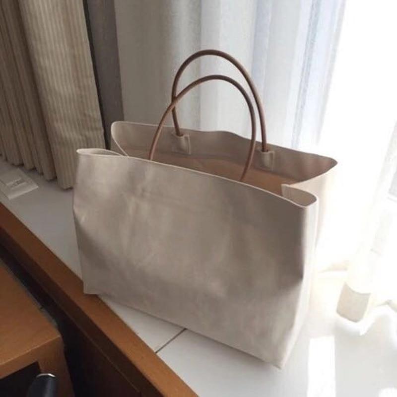 SWDF 2020 Women Summer Hawaii Beach Bags Ins Brand Exposure Bags Woman Simple Large Capacity Handbag  Lady Korean Version Totes