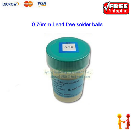Free shipping !! PMTC Lead-free Solder Ball For BGA Soldering Reballing, 0.76mm Lead free solder balls