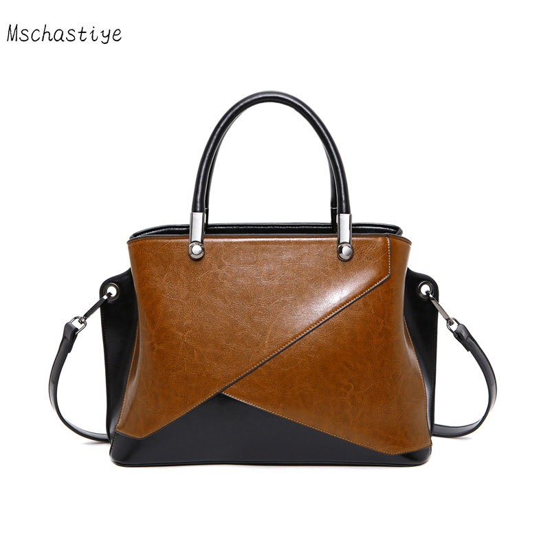 Mschastiye Genuine Leather women Handbags black/brown/pink /red solid color Vintage Cow Leather Handbags & Crossbody bags pink solid color off shoulder crop bodycon sweaters vests