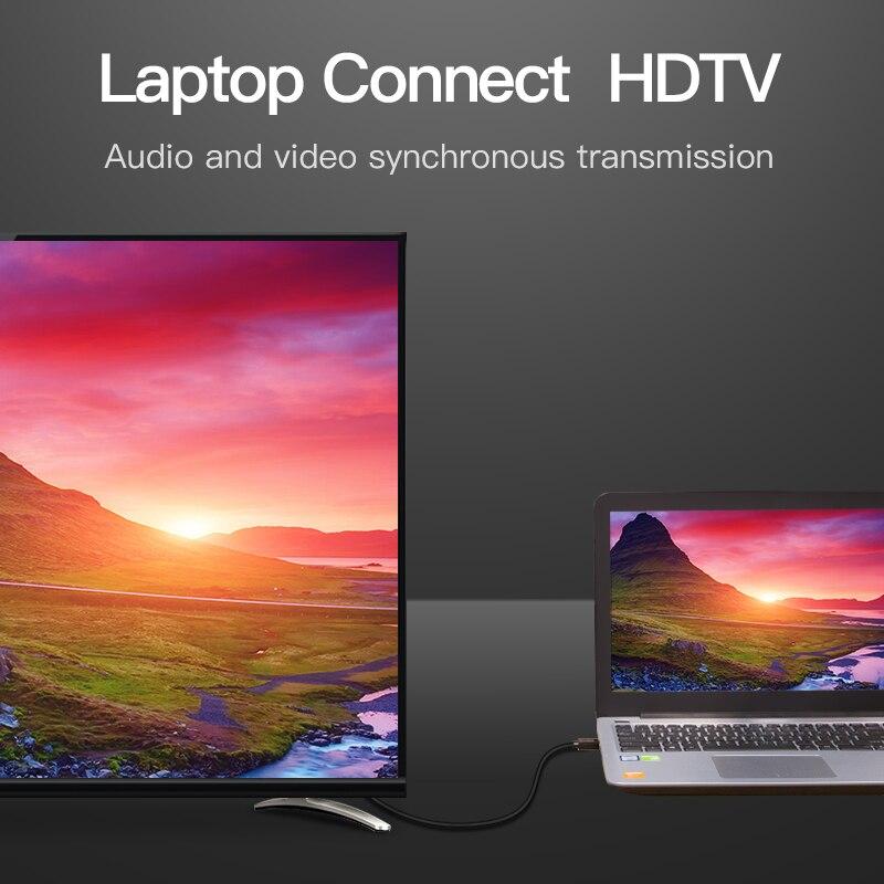 Vention HDMI câble Fiber optique HDMI 2.0 mâle à femelle câble Support 4 K 3D pour HD TV ordinateur portable lcd PS3 projecteur ordinateur câble - 4