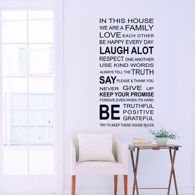DIY We ARE FAMILY Quotes Wall Sticker Vintage Home Decor Bedroom ...