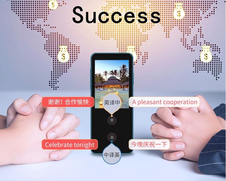 Смарт-голос переводчик реального времени двусторонней речи интерактивные преобразования для обучения путешествия Бизнес Поддержка 28 язык