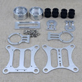 2 Оси Алюминиевый Бесщеточный Камеры Gimbal Гора Kit FPV CNC Металла Антенны PTZ Для DJI Phantom 1 2/Walkera QR-X350 Gopro Hero 3
