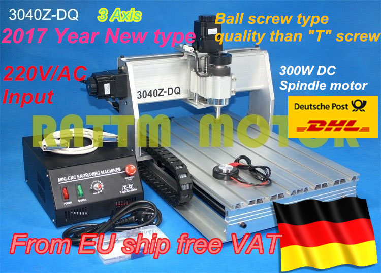 DE ship/Free VAT NEW 3 Axis 3040Z-DQ 300W Ball screw CNC ROUTER ENGRAVER/ENGRAVING DRILLING/Milling Cutting machine 220V/110V weyman stanley john the red cockade