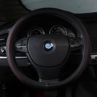 car steering wheel cover non slip genuine leather accessories for mazda 3 axela bk bl 5 6 gg gh gj 626 atenza premacy mg zs 3