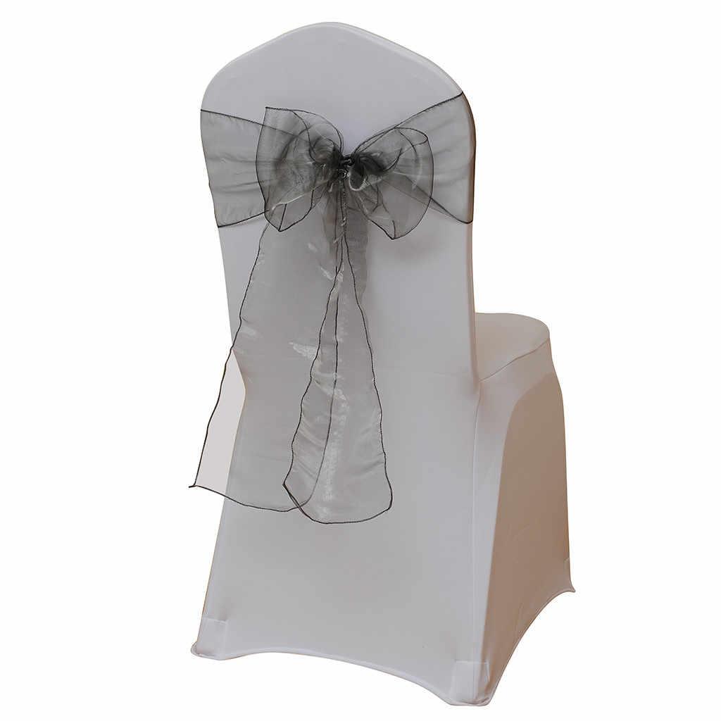 5 шт Многоцветный спандекс створки с канделябр искусственный цветок и лента на стул из органзы Свадебные лайкра галстук-бабочка band оптом