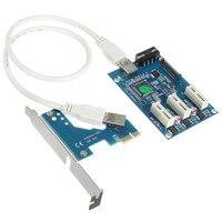 1pcs PCI E PCI Express Expansion Card Adapter USB3 0 3Port 1X To 3X Slot USB3