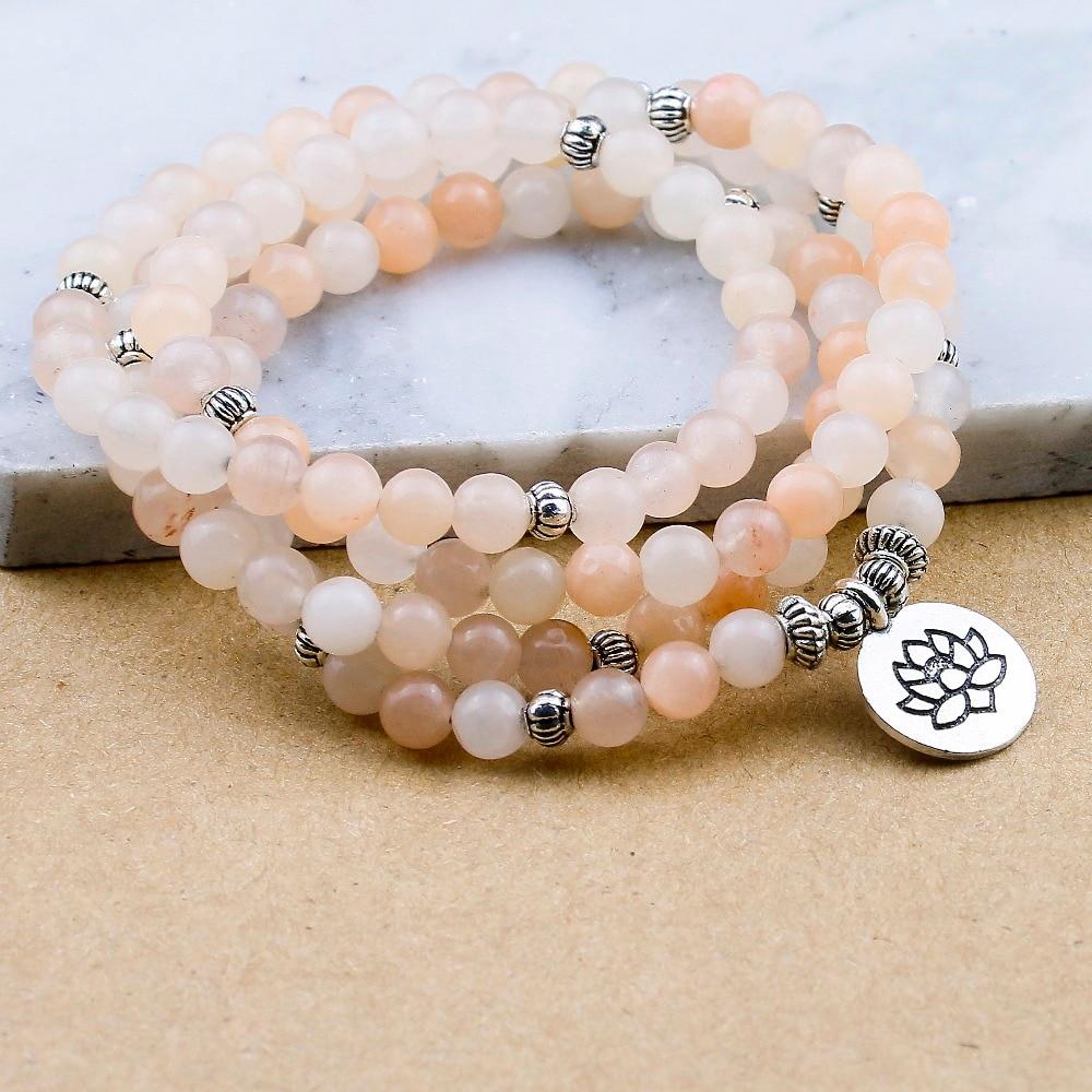 Pink Aventurine Mala Beads (6mm) 3