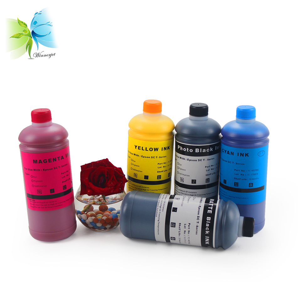 Winnerjet Water Based Pigment Ink for Espon SC T5000 XD UltraChrome Ink in Ink Refill Kits from Computer Office