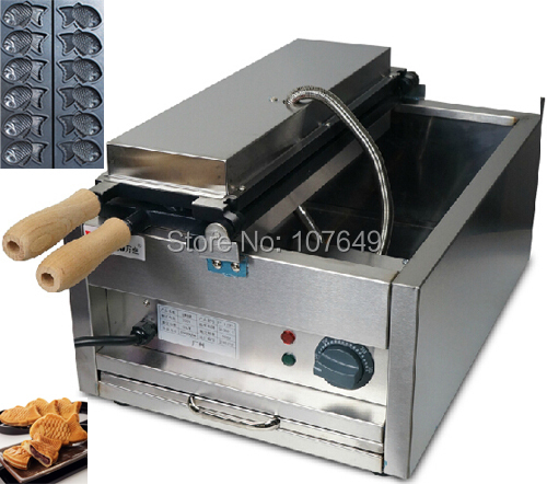 Hot Sale 6pcs Commercial Use Non-stick 110v 220v Electric Taiyaki Machine Maker Baker Iron 6 4 4m bounce house combo pool and slide used commercial bounce houses for sale