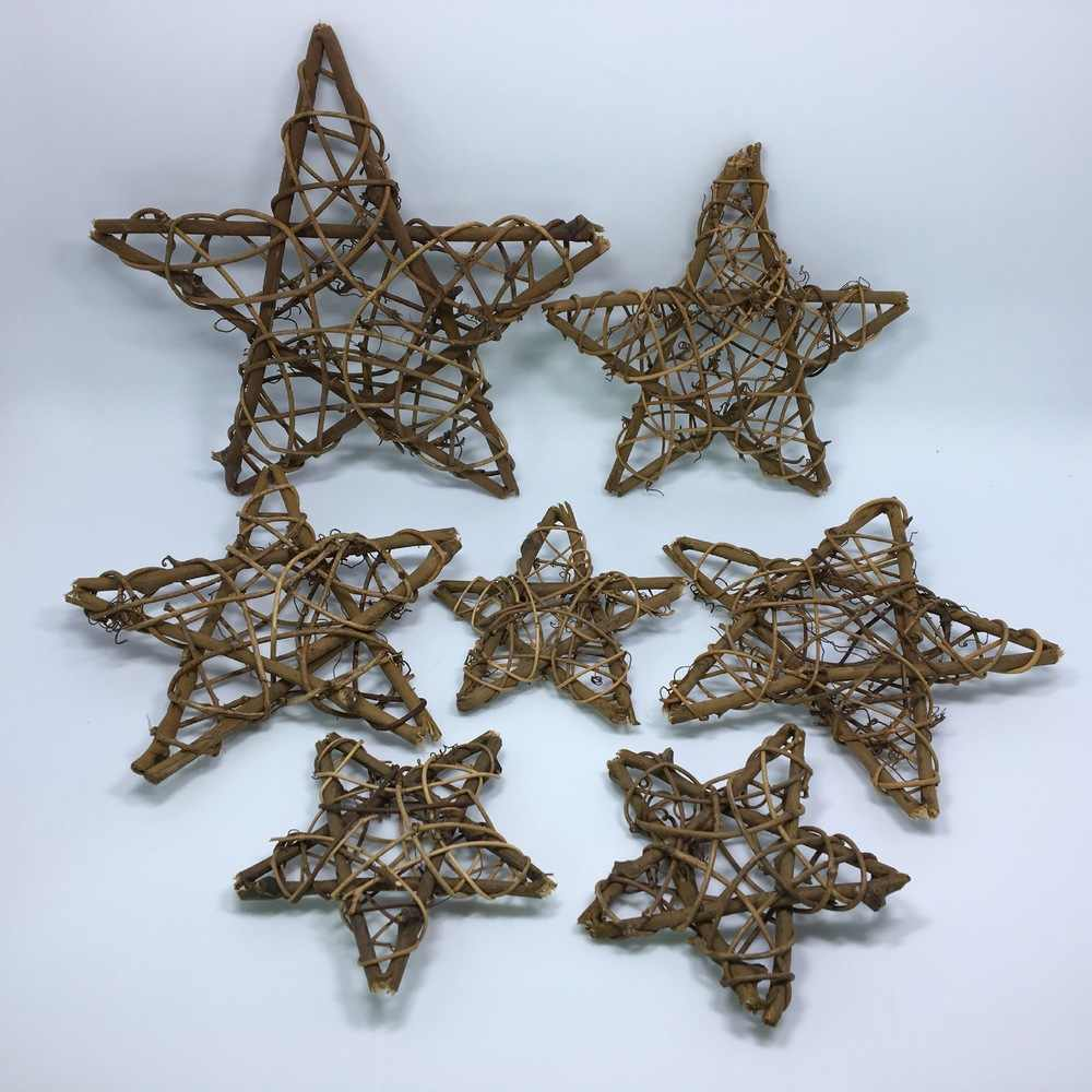 Rustic Star Rattan Wicker Vine Ball For Wedding Party Home