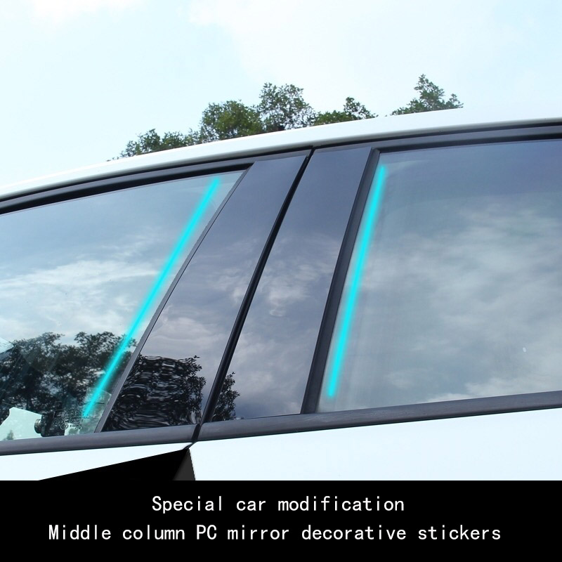Image 2 - Car window trim PC mirror is suitable for modern IX35 Yuena led Rena modified column post body decoration strip-in Car Stickers from Automobiles & Motorcycles