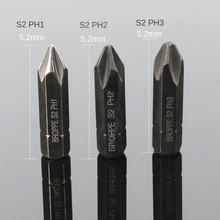 цена на HOEN 3PCS 8mm Hex Heavy Duty Impact Impact Screwdriver Cross Phillips Electric Magnetic Screwdriver Bit Set for Loosen Screws