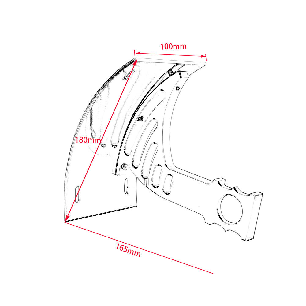 Motorcycle Parts Black Swingarm Side Mount Curve License Plate Bracket for Honda VTC1000 RC51 CBR954RR CBR929RR CBR900RR in Covers Ornamental Mouldings from Automobiles Motorcycles