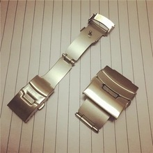 Watch accessories stainless steel double press folding safety buckle metal strap plane spot