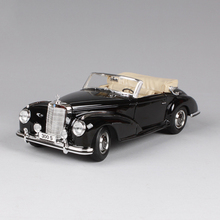 1:18 moulé sous pression de voiture 1955 300 s roadster coupé noir classique cars 1:18 alliage voiture en métal véhicule de collection modèles toys pour cadeau