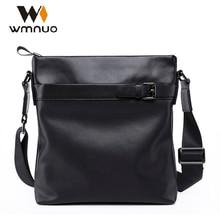 цена на Wmnuo Men Shoulder Bag Genuine Leather Men Bag 2018 Handbag Soft Cowhide Leather Fashion High Quality Business Crossbody Bag