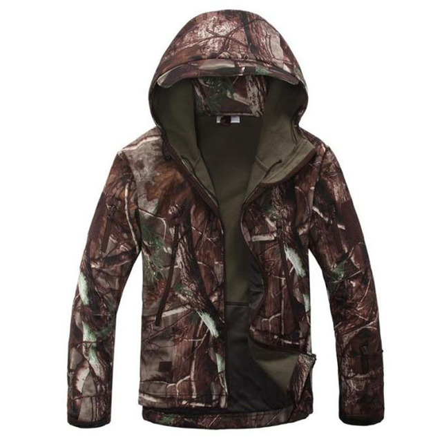 Army Camouflage Soft Shell Outdoor Jacket Men Tad Shark Green Military  Tactical Waterproof Sports Spring Hoody Hunting Jacket f9c938e0dc