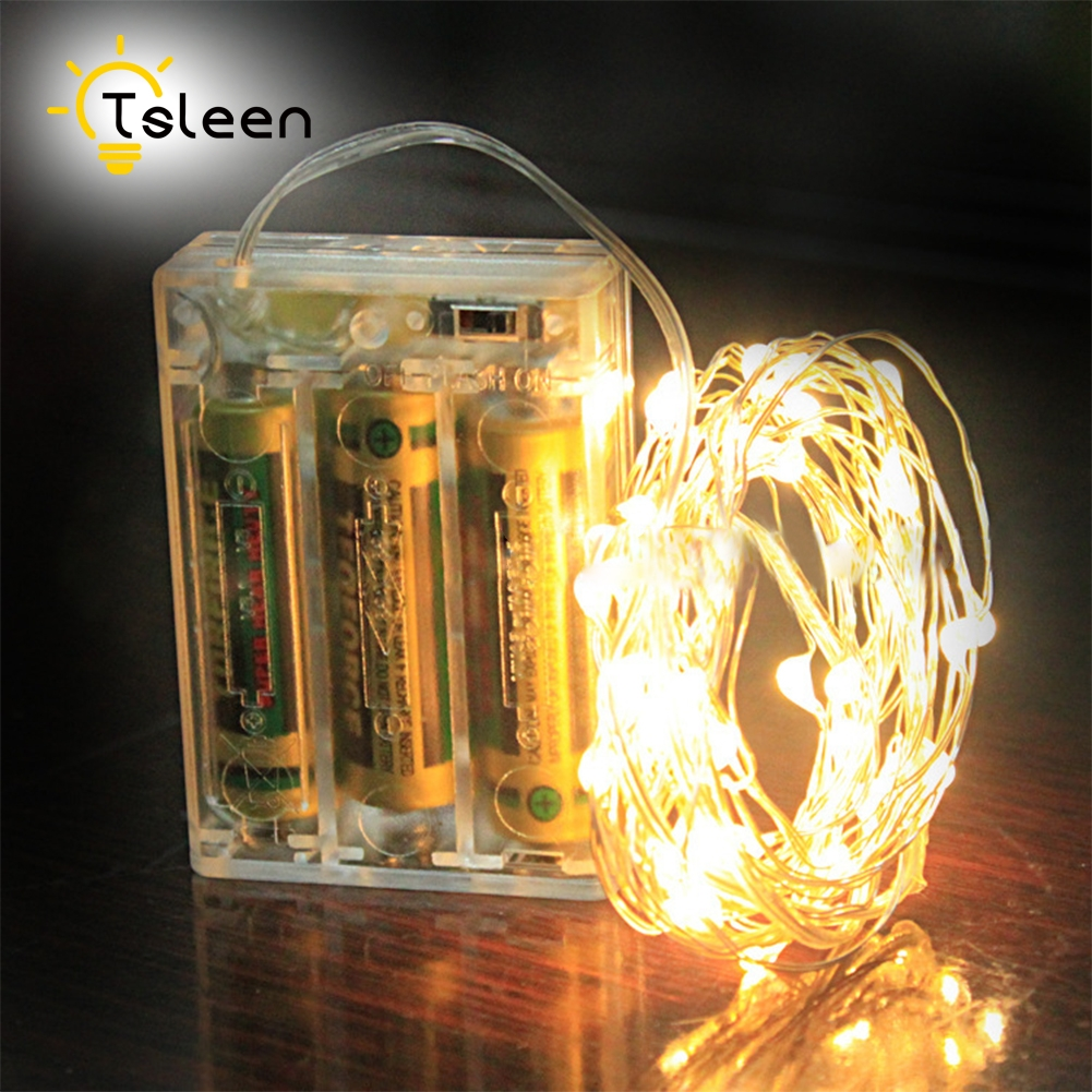 Lights On Sale: TSLEEN Hot Sale String Light 10m 100Leds Silver Wire Fairy