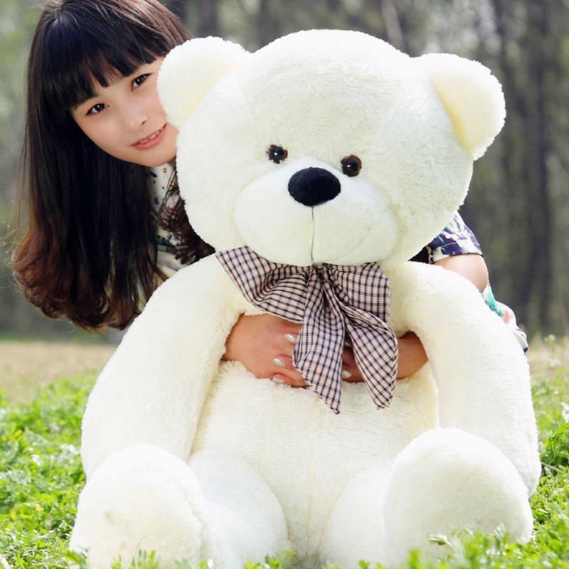 YunNasi 120 cm géant ours en peluche jouets en peluche animaux PP coton énorme peluche en peluche oreiller doux jouets pour filles enfants cadeau d'anniversaire