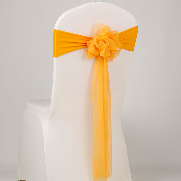 navy blue wedding chair ribbon sash bows for chairs wedding chair knots ties for chairs back 100pcs in Sashes from Home Garden
