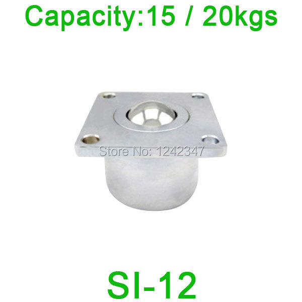 цены  Free shipping SI-12 ball transfer unit bearing unit,SI12 15kgs / 20kgs load capacity Heavy Flange Ball Bearing