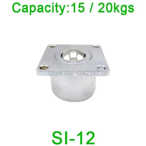 цены  Free shipping SI-12 ball transfer unit bearing unit,SI12 15kgs / 20kgs load capacity Heavy Flange Ball Bearing