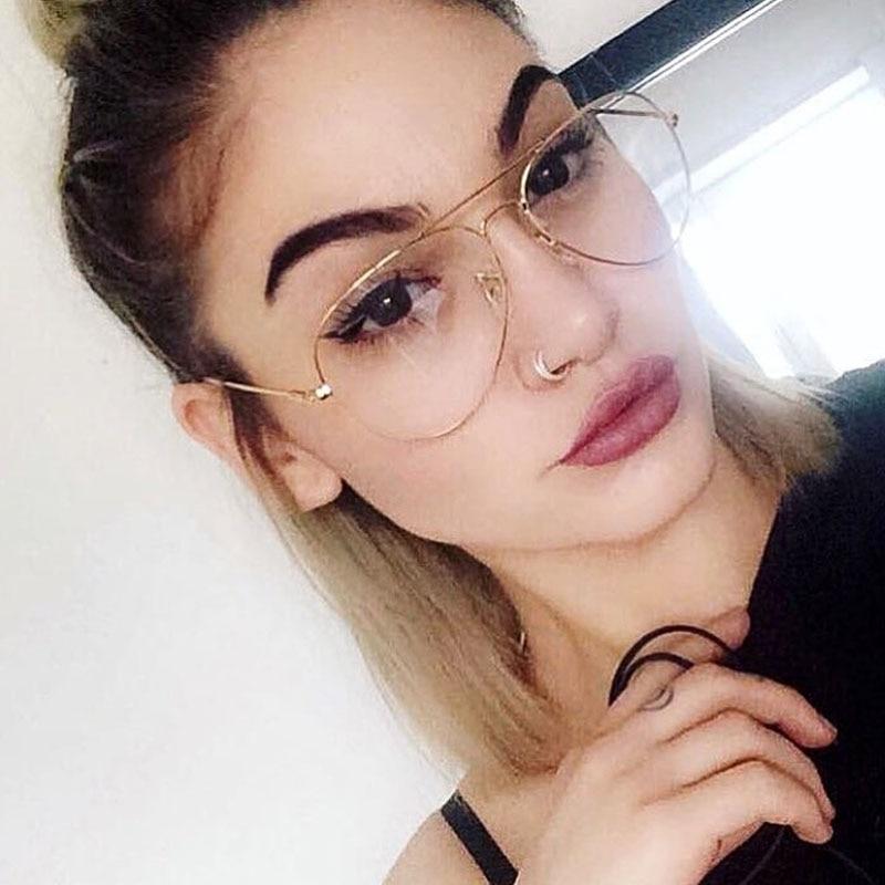 493740e2a 2017 New Aviator Glasses Women Classic Eyeglasses Rose Gold Metal Spectacle  Frame Clear Glasses Men Optical Glasses Frame Oculos-in Eyewear Frames from  ...