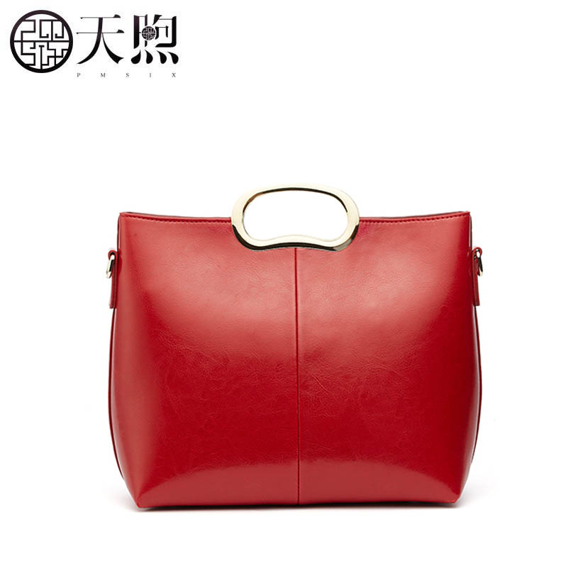Neue Atmosphärischen Wind bestickte Red Paket Handtasche Hand 2019 Rindsleder Nationale Weibliche Retro Mode Original w4dEEvqa