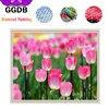GGDB 5D DIY Diamond Painting Beautiful Tulip Resin Canvas Painting By Numbers Printed Cross Stitch Needlework