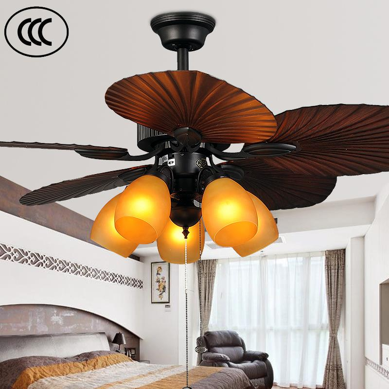 Unique Used Leaf Design Ceiling Fan Light With Southeast