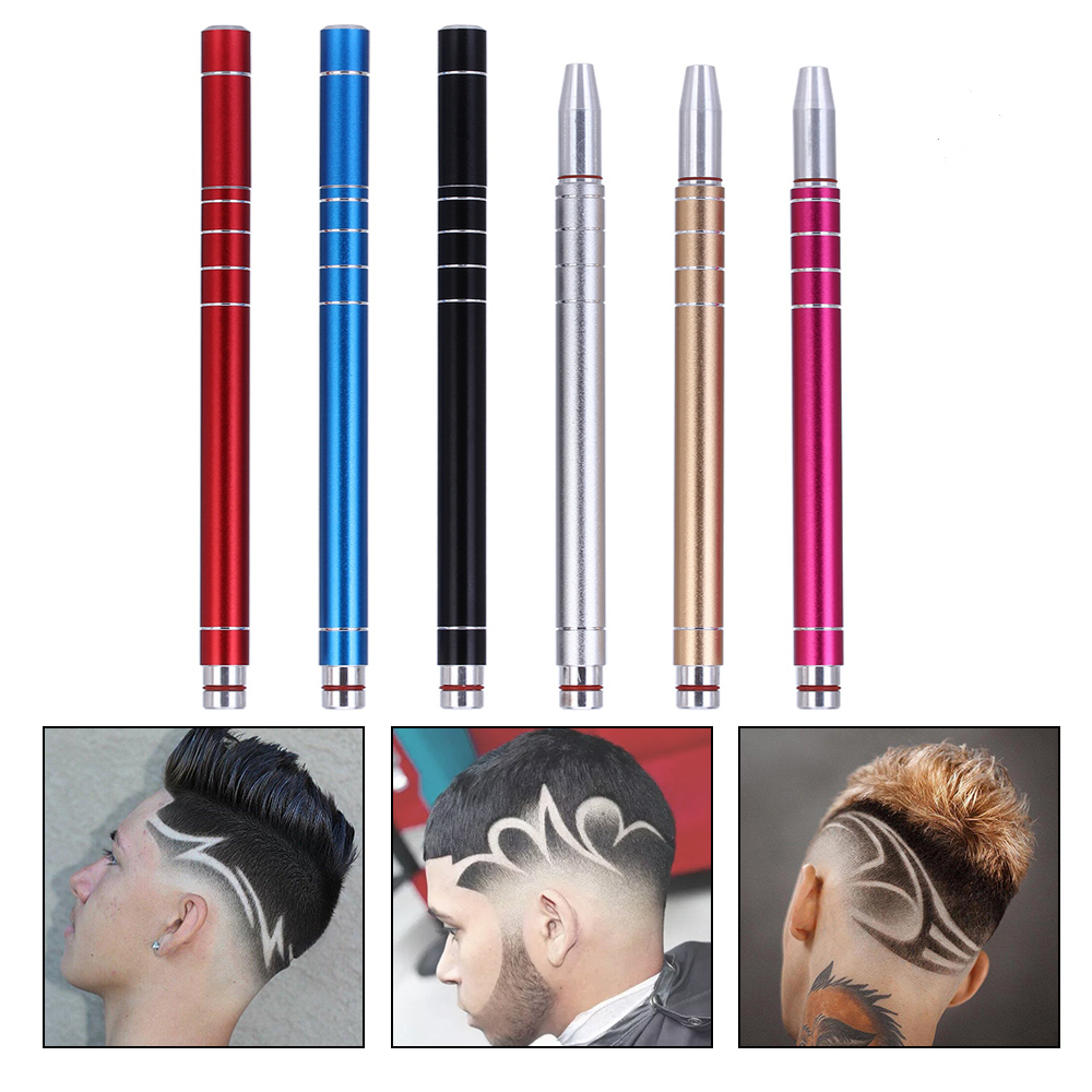 New Fashion 1Pcs Hairstyle Engraved Pen+10Pcs Blades Hair Trimmers DIY Hair Styling Eyebrows Shaving Salon Stainless Steel Pen