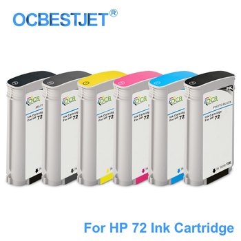 [Third Party Brand] For HP 72 Replacement Ink Cartridge For HP DesignJet T610 T620 T770 T790 T795 T1100 T1120 T1200 T1300 T2300 image