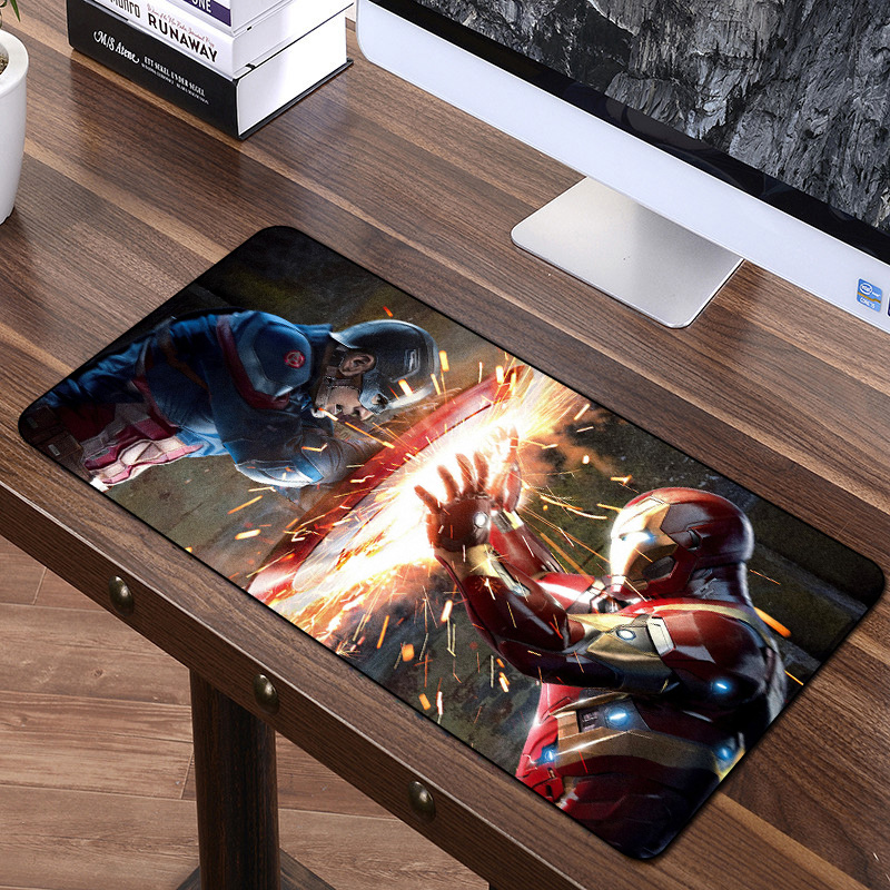 FFFAS 60*35cm Mouse Pad Avengers Infinity War Anime Gaming Grande Mouse Pad Gamer Keyboard Mat Thanos Iron Man Captain America