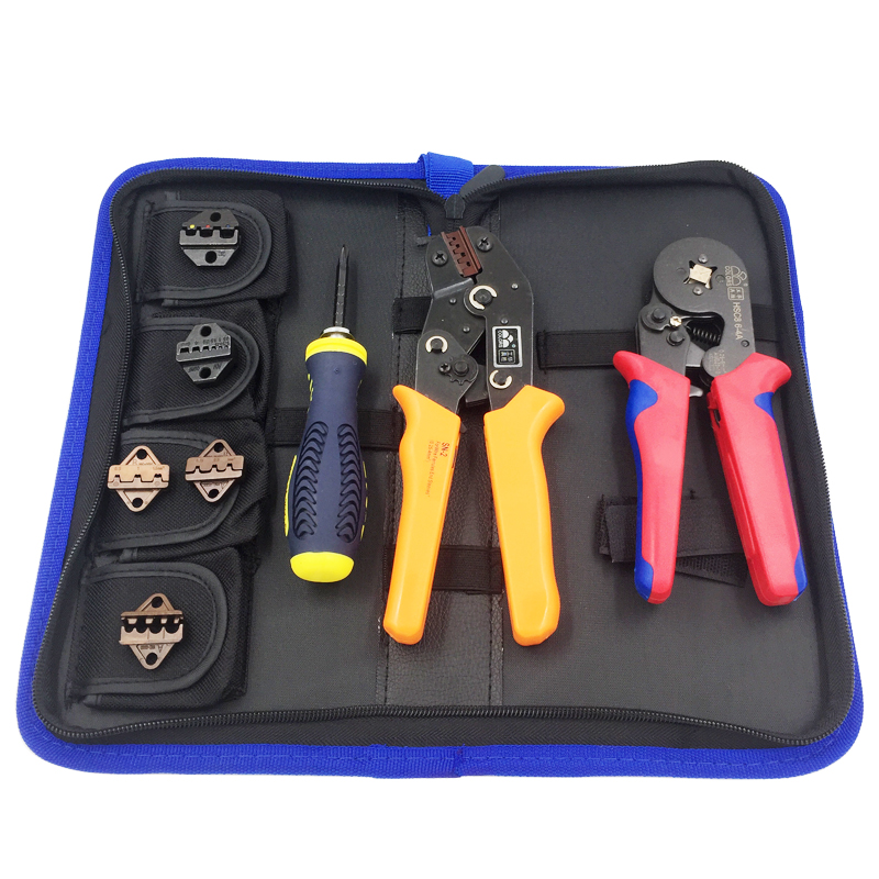 8 In 1 Multi tools Wire Crimper Tools Kit Terminal Crimping Plier +Round head pliers+Dual-purpose telescopic screwdriver tool newacalox multifunction self adjustable terminal tool kit wire stripper crimping pliers wire crimp screwdriver with tool bag