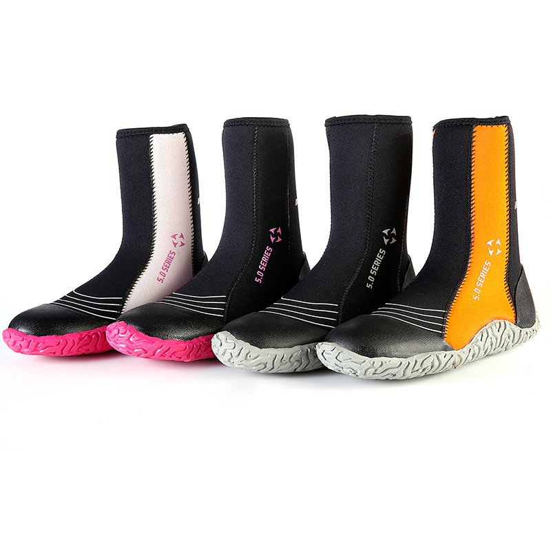 Hot Selling Men 5mm high top Cool Five Finger Surfing Water Sport Shoes warm keeping 5mm