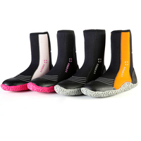 Hot Selling Men 5mm high top Cool Five Finger Surfing Water Sport Shoes warm keeping 5mm swimming fins