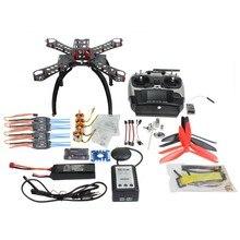 RC DIY Full Kit Carbon Fiber Frame MulticopterGPS Drone FPV Radiolink AT9 Transmitter APM2.8 1400KV Motor 30A ESC