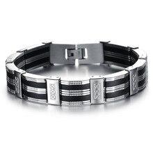 JAAFAR высококачественный здоровый мужской браслет из нержавеющей стали с силой очарования магнитных ювелирных изделий AS003