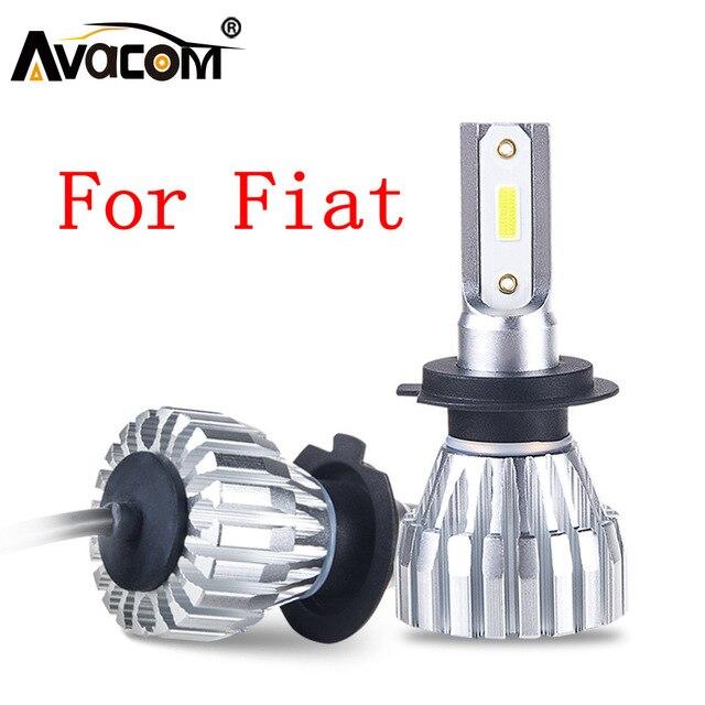 led car headlight bulb 12v led h1 h4 h7 h11 cob/dob chip 6500k car