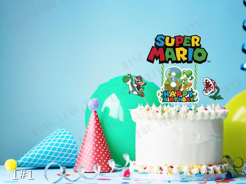 Super Mario Bros Yoshi Dinosaur Cake Topper Kids Birthday Party
