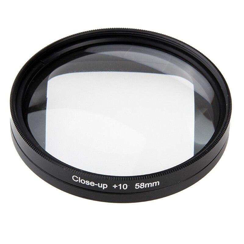 캐논 600D 700D 용 Nikon DSLR 매크로 렌즈 필터 For GoPro HERO4 세션 액션 카메라 Go Pro 액세서리 58mm 10X 클로즈업