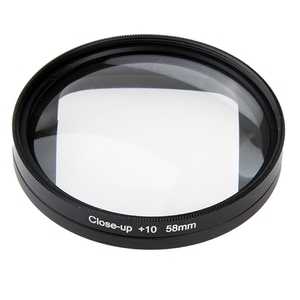 For Canon 600D 700D For Nikon DSLR Macro Lens Filter For GoPro HERO4 Session Action Camera Go Pro Accessories 58mm 10X Close-Up