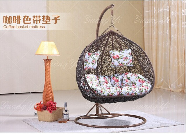 Outdoor bird nest hanging basket indoor rattan rocking