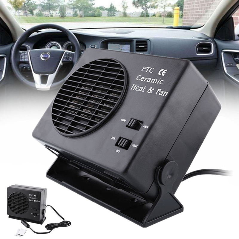 New 2 in 1 Electric Car SUV Vehicles Portable Ceramic Heating Cooling Dryer Warmer Fan Demister Defroster 12V 300W