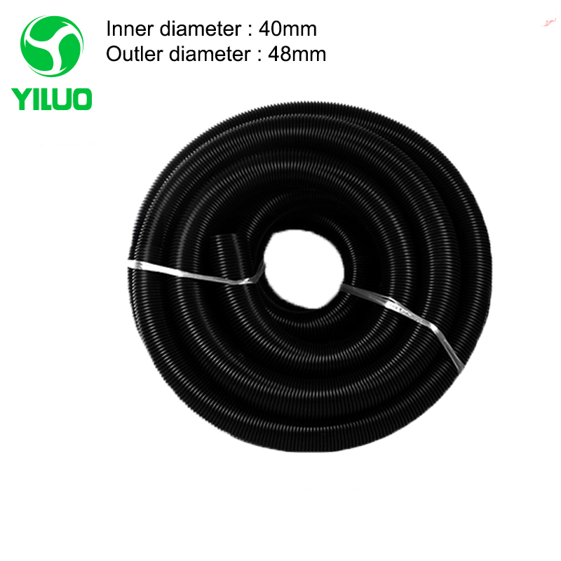 2m Black EVA Threaded vacuum cleaner hose with High Temperature Flexible of industrial Vacuum Cleaner inner Diameter 40mm vacuum pump inlet filters f007 7 rc3 out diameter of 340mm high is 360mm