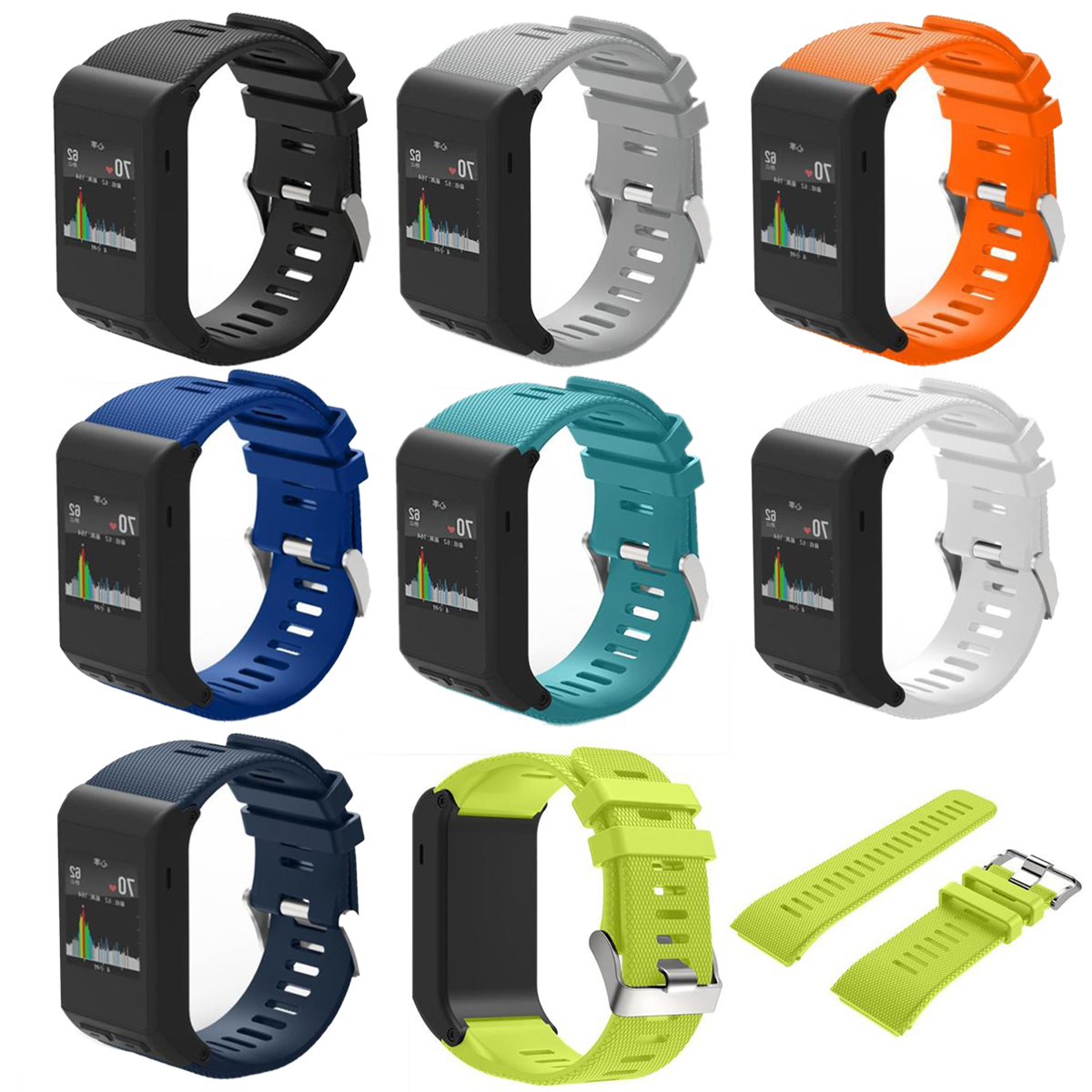 High Quality Sports Safety Silicone Replaceable Wrist Band Straps for Garmin Vivoactive HR Wristband Bracelet Belt